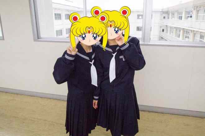 Japanese Sailor Moon Students
