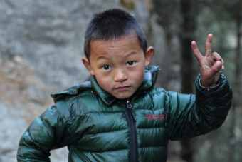 Nepal Hiking Child