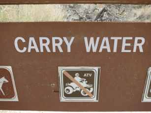 PCT Carry Water Sign