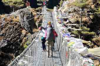 Suspension Bridge Nepal EBC Trek