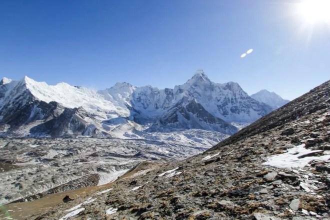 Chukhung-Ri Descent Himalaya Mountains