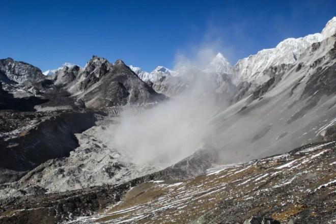 Sand Storm Off Chukhung-Ri Himalaya