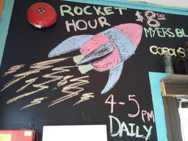 Rocket Hour Fire Island Sign
