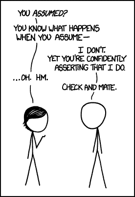 XKCD When You Assume
