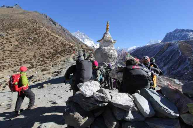 Everest Base Camp Trek Dingboche Hikers
