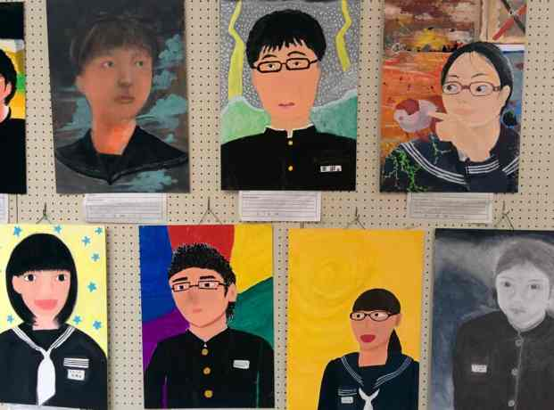 Japanese School Kids Paintings