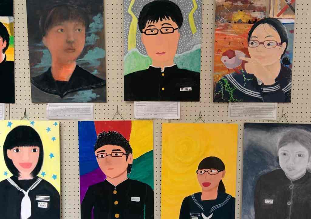 Japanese School Kids Paintings