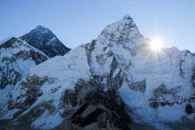 Sunrise from Kala Patthar.