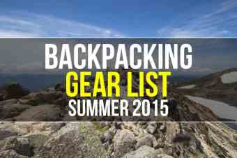 Mac's Backpacking Gear List (Summer 2015)