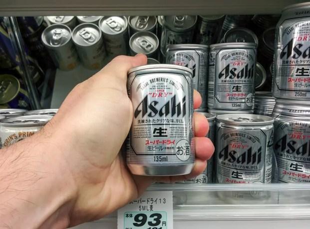 Japanese Supermarket Tiny Beer Hand