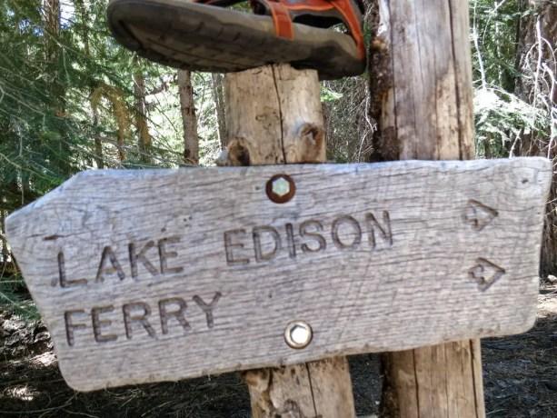 Lake Edison Ferry VVR Sign
