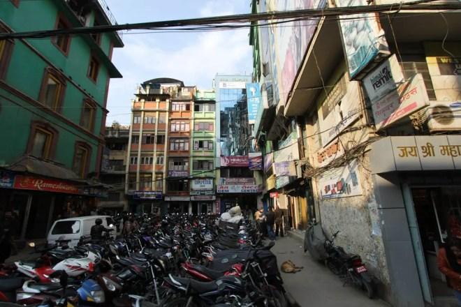 Kathmandu Buildings Scooters