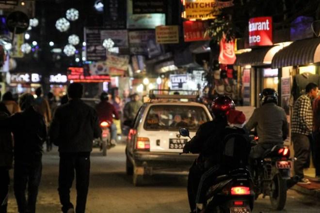 Kathmandu Thamel At Night