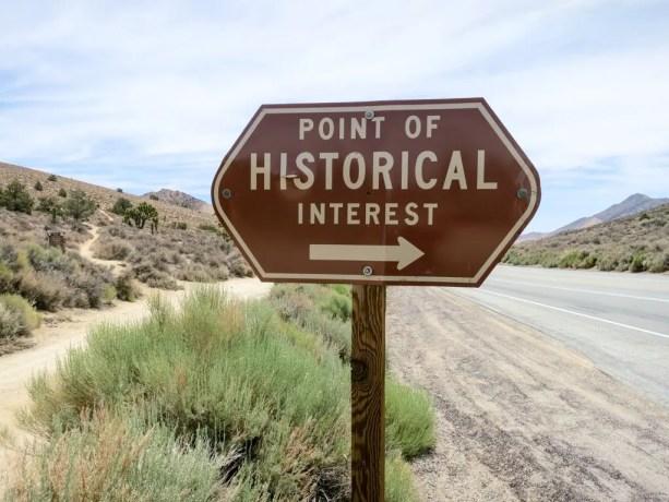 PCT California Desert Historical Sign
