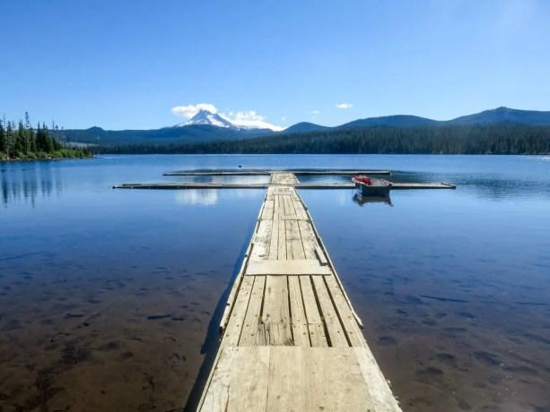 PCT Oregon Olallie Lake Mount Jefferson View