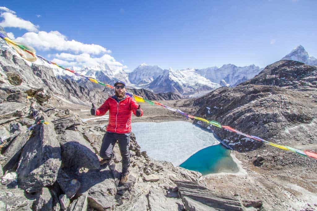 The highest point on Nepal's Three Passes Trek, Kongma-La ( )
