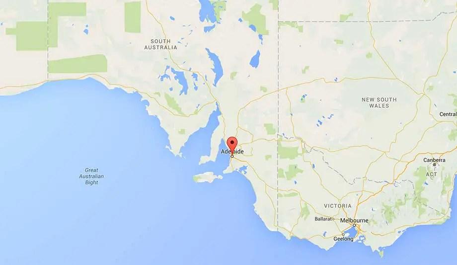 Australia-Adelaide-Map