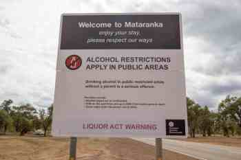 Australia-Mataranka-Alcohol-Restrictions-Sign