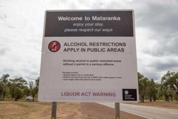 Australia-Mataranka-Alcohol-Restrictions-Sign