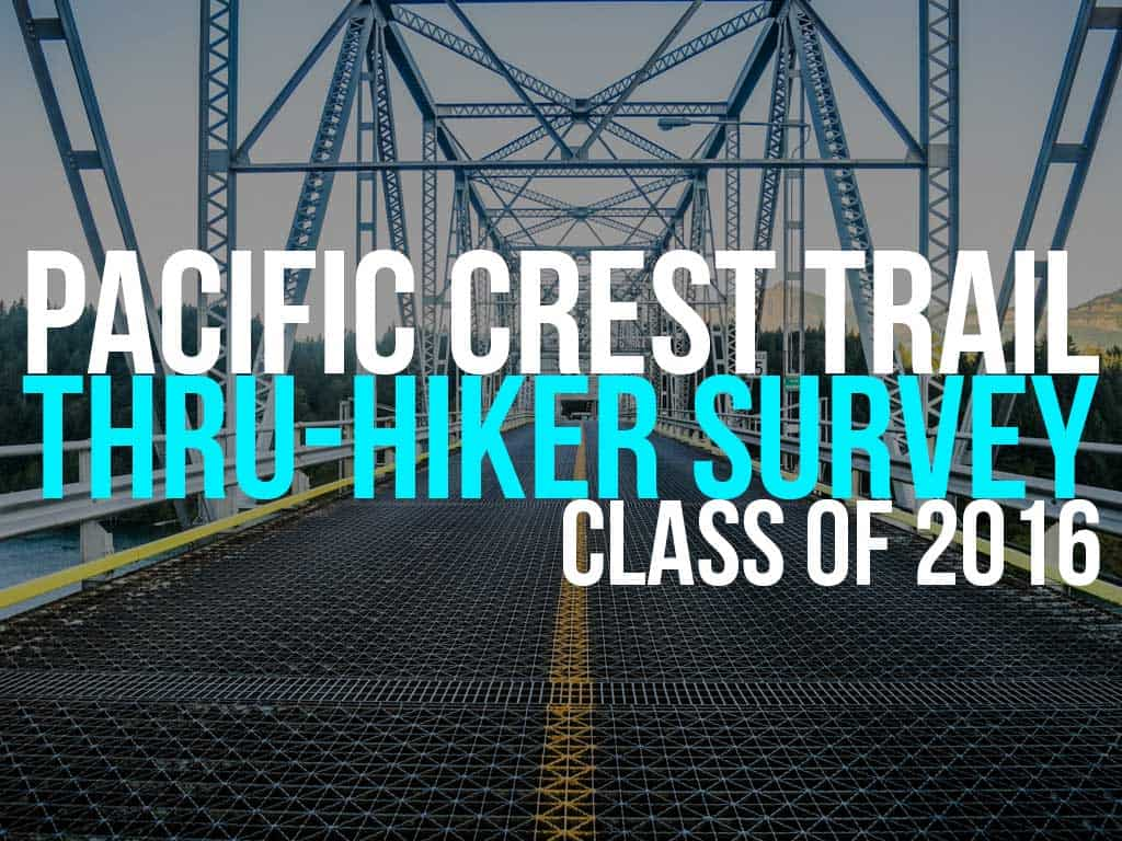 1f6409c1cd5 The Annual Pacific Crest Trail Thru-Hiker Survey (2016)