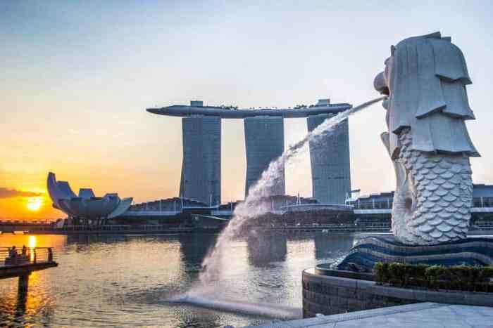 Singapore-Merlion-Sunrise
