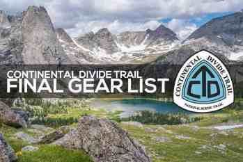 Continental Divide Trail Gear List (Post-Trail)