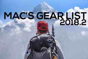 Mac's Backpacking Gear List 2018 (v2.0)