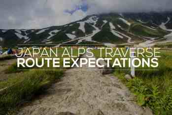 Japan Alps Traverse: Route Expectations