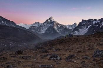 Nepal-Three-Passes-Cho-La-Dzongla-Sunset