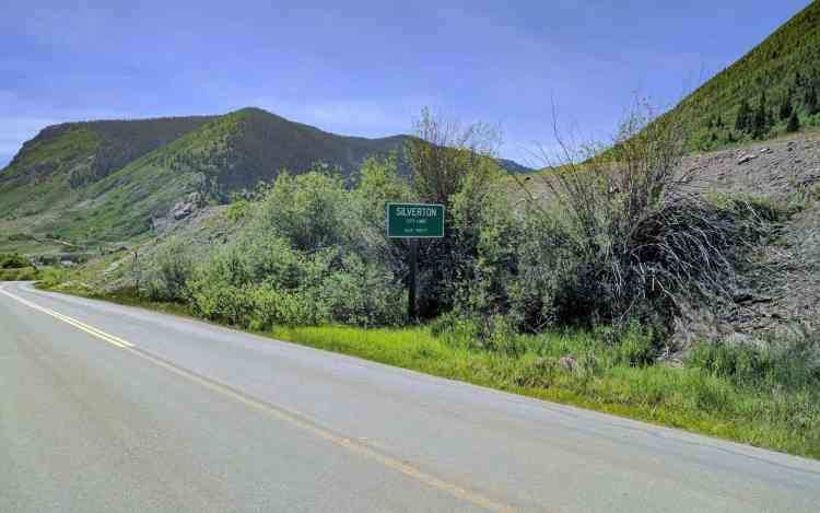 CDT Colorado Silverton City Limit Sign