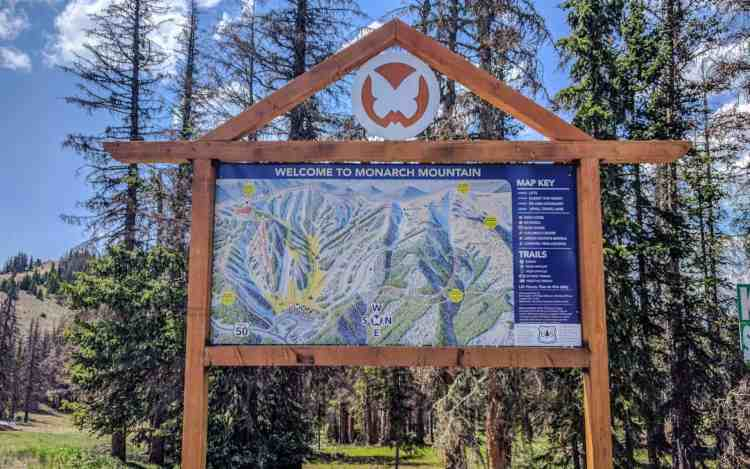 CDT Colorado Monarch Mountain Map