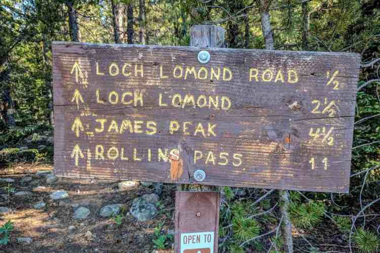 CDT Colorado James Peak Sign