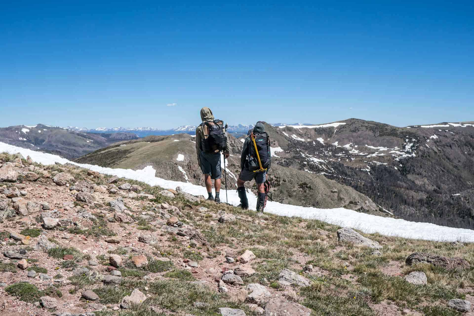 CDT Colorado San Juan Mountains Hikers View