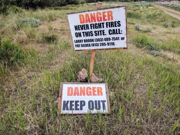 CDT Colorado Fire Sign