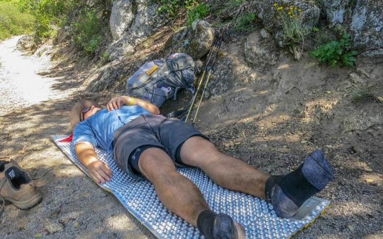 PCT Desert Hiker Laying Down