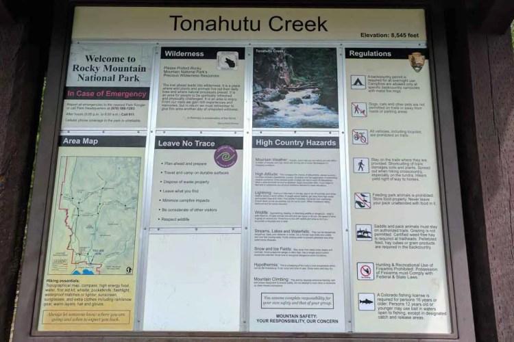CDT Colorado Grand Lake Sign Trail
