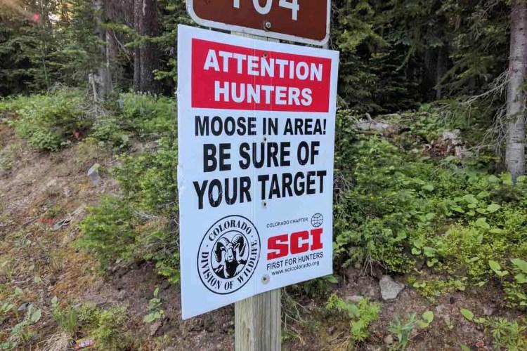 CDT Colorado Sign Moose
