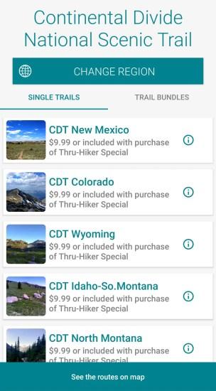 Guthook Guides CDT Screenshot 2