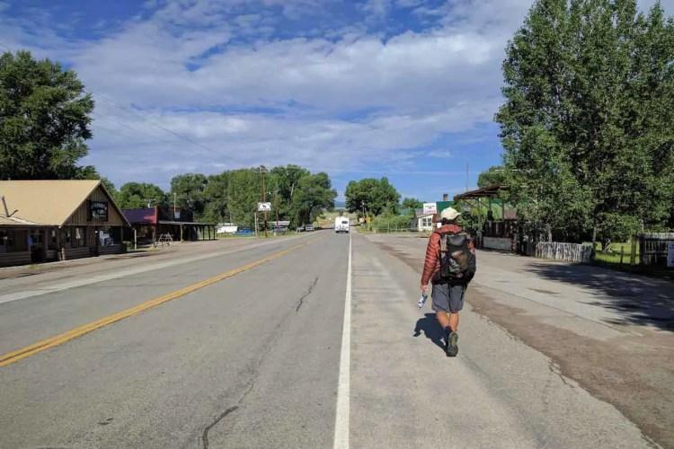 CDT Wyoming Encampment Appa Walking