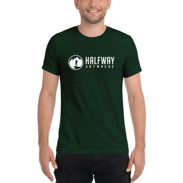 Halfway Anywhere Unisex T-shirt (Emerald)