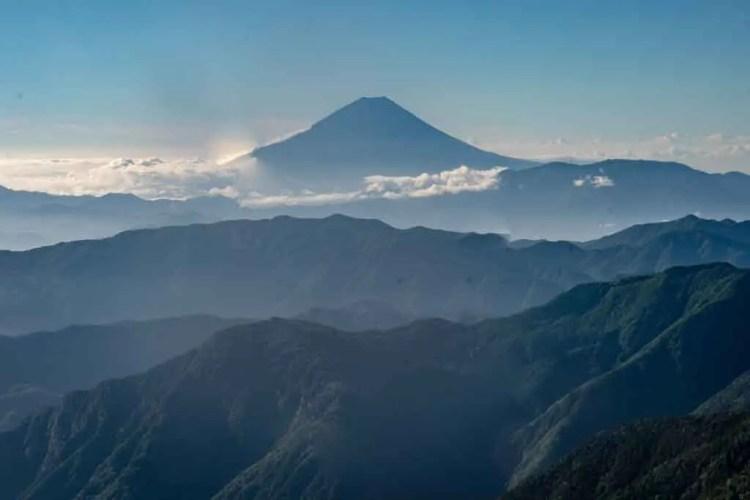 Japan Alps Traverse Mount Fuji View
