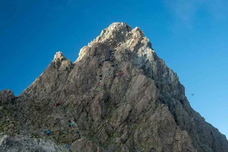 Japan Alps Traverse Kita Alps Crowds Yarigatake