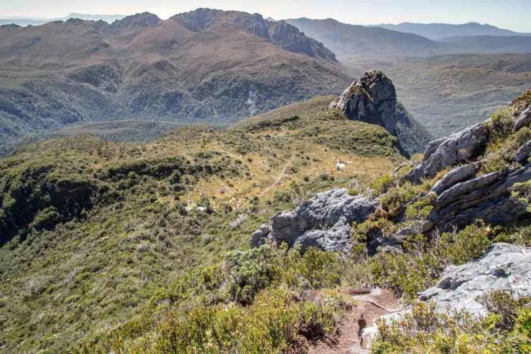 Tasmania Federation Peak Track Bechervaise Plateau