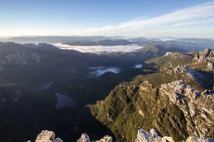 Tasmania Frenchmans Cap Summit View