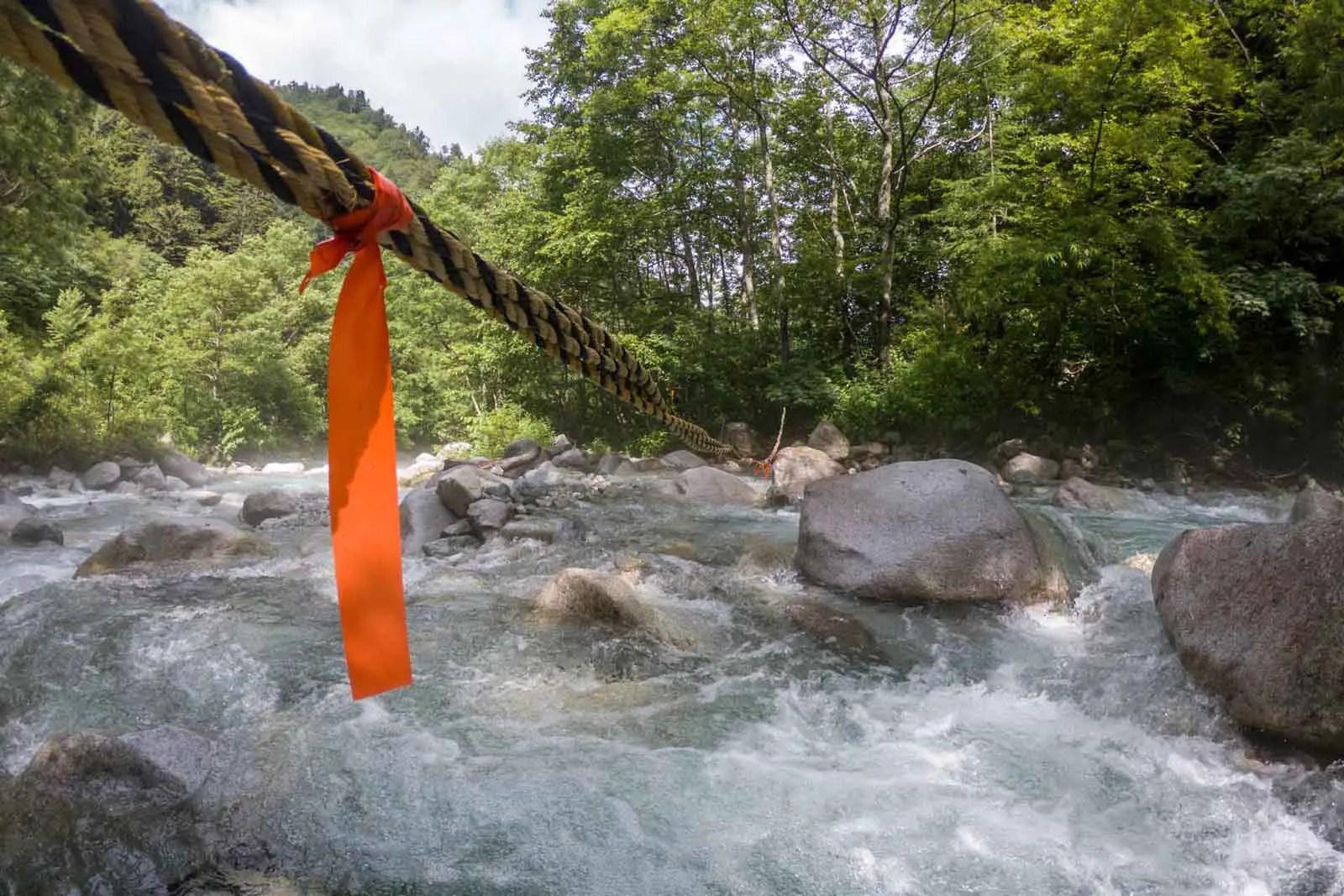 Japan Alps Traverse Kita Alps Rope River Crossing