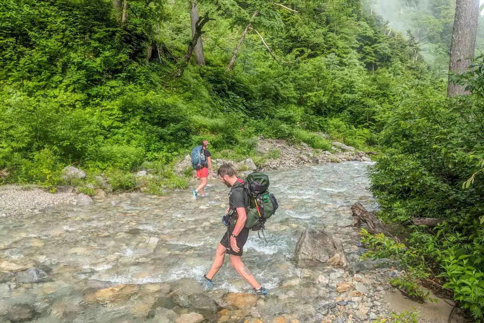 Japan Alps Traverse Kita Alps River