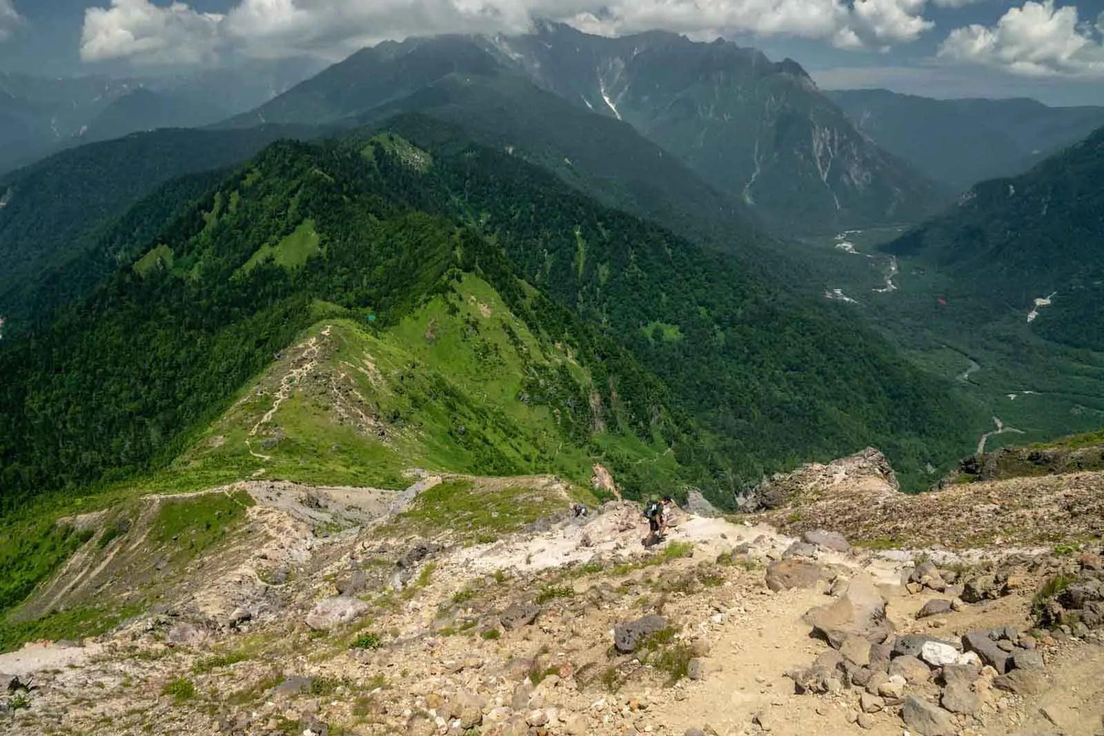 Japan Alps Traverse Kita Alps Yakedake Climb