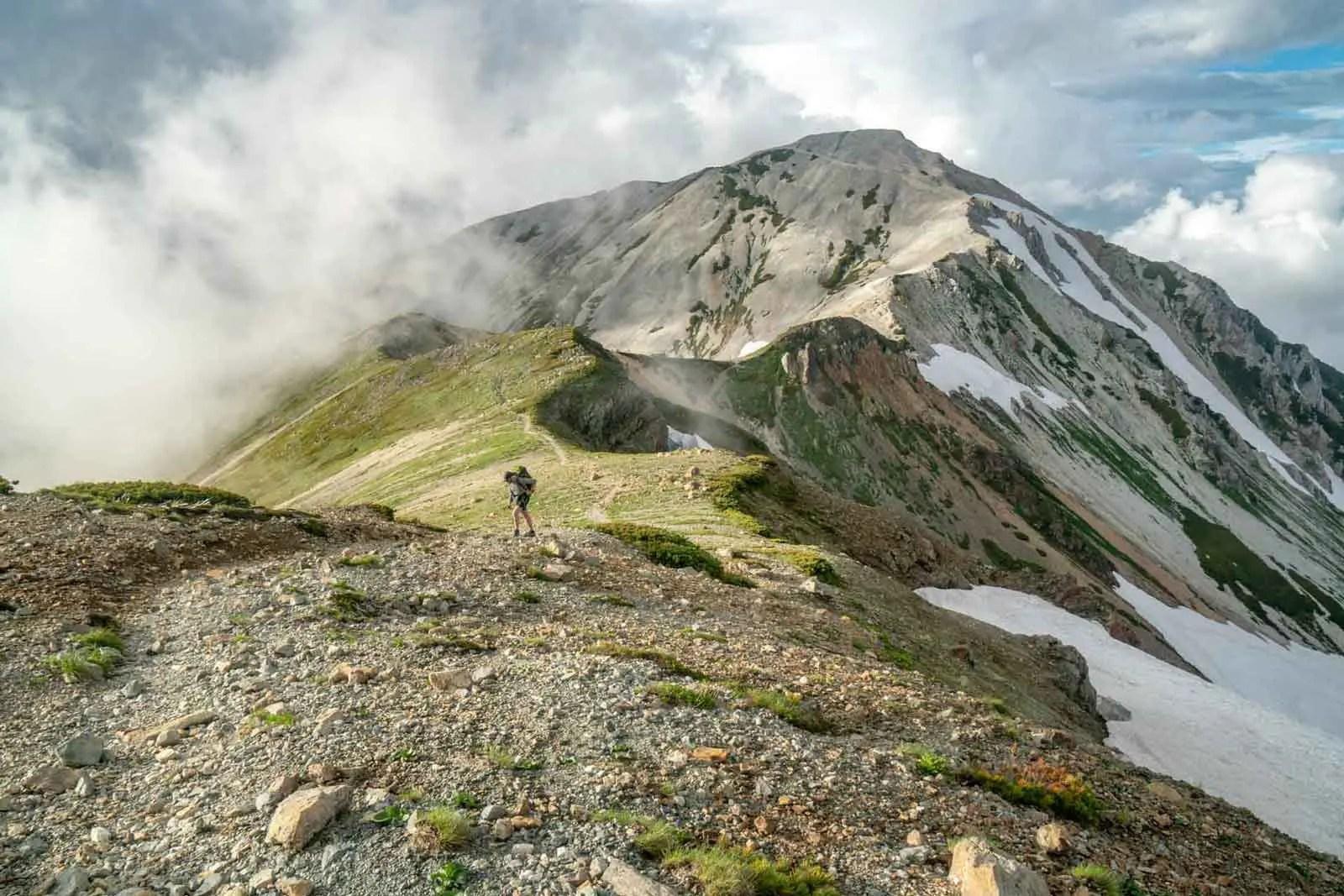Japan Alps Traverse Kita Alps Tom Descend
