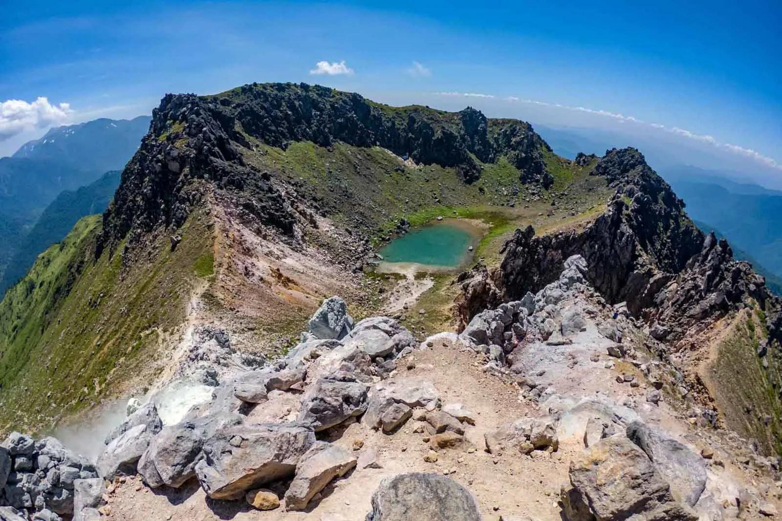 Japan Alps Traverse Kita Alps Yakedake Crater