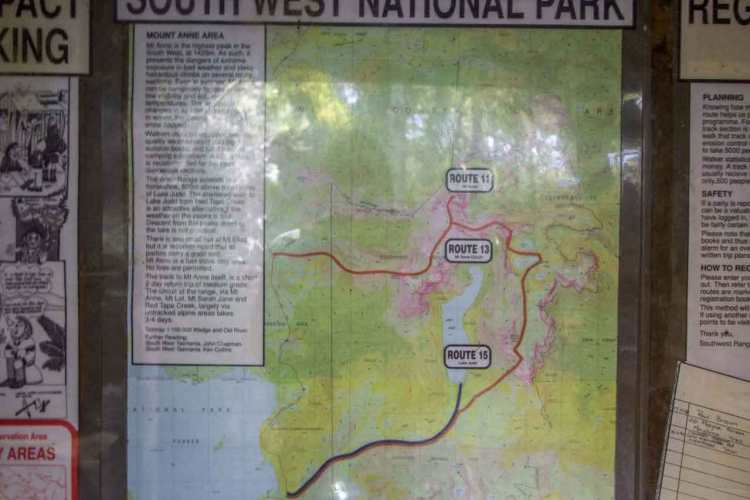 Tasmania Mount Anne Circuit Trailhead